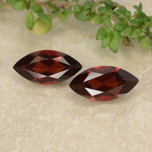 Red Pyrope Garnet Gem - 1.2ct Marquise Facet (ID: 479449)