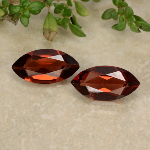 Red Pyrope Garnet Gem - 1.1ct Marquise Facet (ID: 479454)