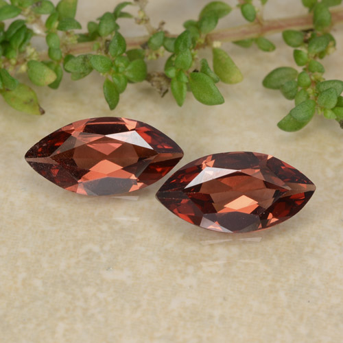 Red Pyrope Garnet Gem - 1ct Marquise Facet (ID: 479461)