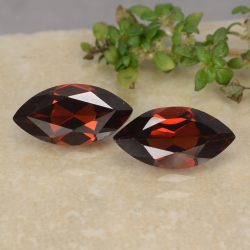 Red Pyrope Garnet Gem - 1.3ct Marquise Facet (ID: 479466)