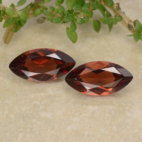 Red Pyrope Garnet Gem - 1.1ct Marquise Facet (ID: 479467)