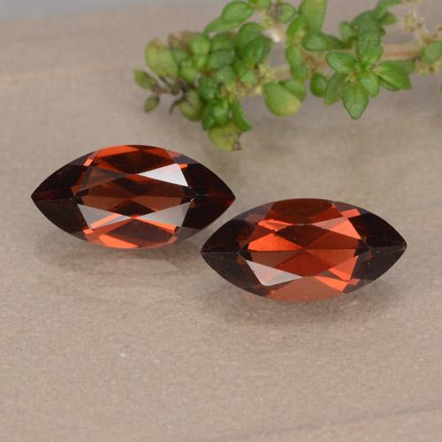 Red Pyrope Garnet Gem - 1.4ct Marquise Facet (ID: 479543)
