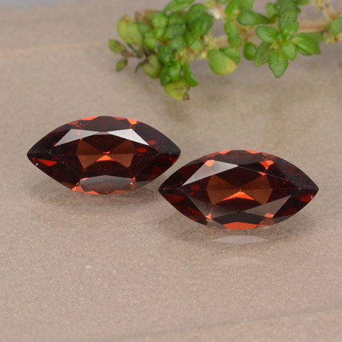 Red Pyrope Garnet Gem - 1.1ct Marquise Facet (ID: 479544)
