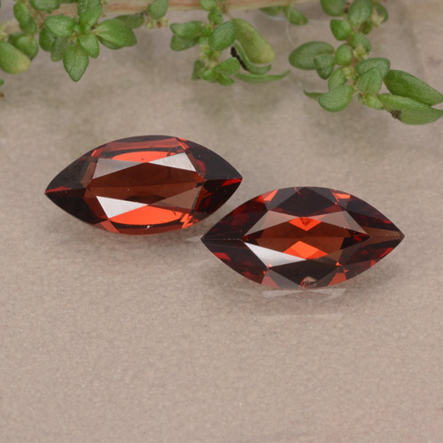 Red Pyrope Garnet Gem - 1.1ct Marquise Facet (ID: 479548)