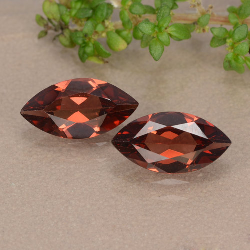 Red Pyrope Garnet Gem - 1.1ct Marquise Facet (ID: 479554)