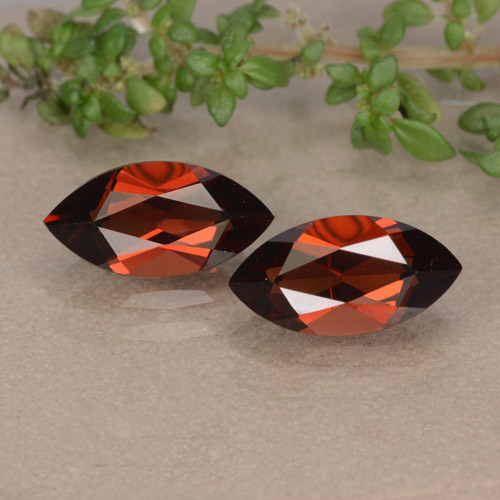 Red Pyrope Garnet Gem - 1.5ct Marquise Facet (ID: 479556)