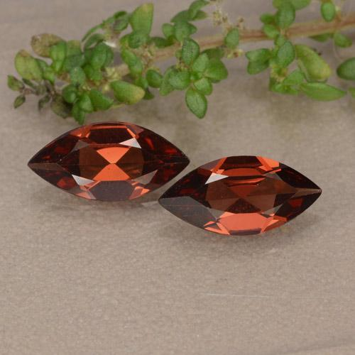 Red Pyrope Garnet Gem - 0.9ct Marquise Facet (ID: 479558)