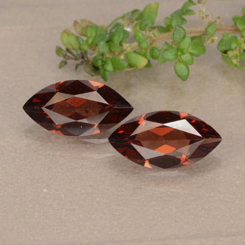 Red Pyrope Garnet Gem - 1.1ct Marquise Facet (ID: 479559)