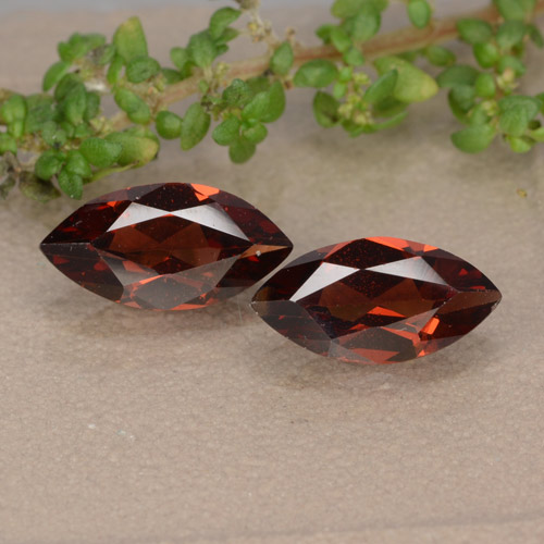 Red Pyrope Garnet Gem - 1.2ct Marquise Facet (ID: 479563)