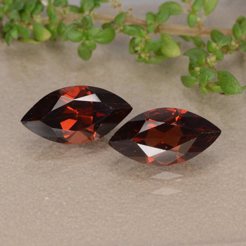 Red Pyrope Garnet Gem - 1.3ct Marquise Facet (ID: 479564)
