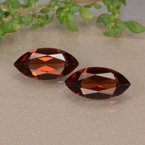 Red Pyrope Garnet Gem - 1ct Marquise Facet (ID: 479568)