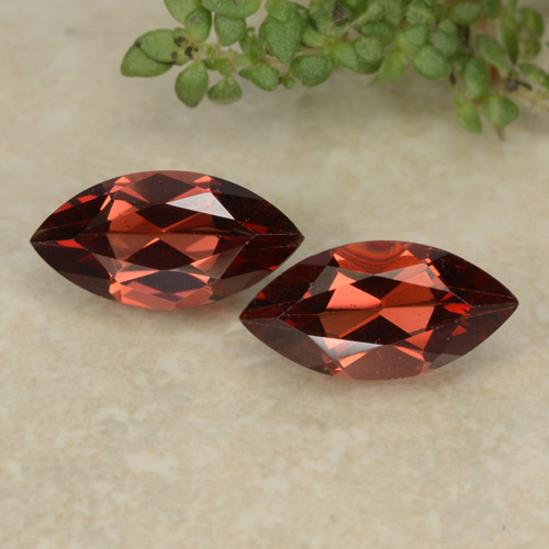 Deep Red Pyrope Garnet Gem - 1.2ct Marquise Facet (ID: 479593)