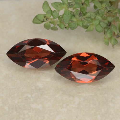 Red Pyrope Garnet Gem - 1.2ct Marquise Facet (ID: 479598)