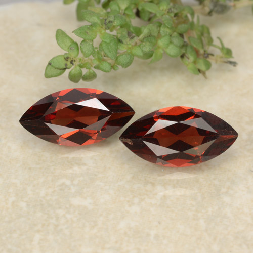 Deep Red Pyrope Garnet Gem - 1.2ct Marquise Facet (ID: 479604)