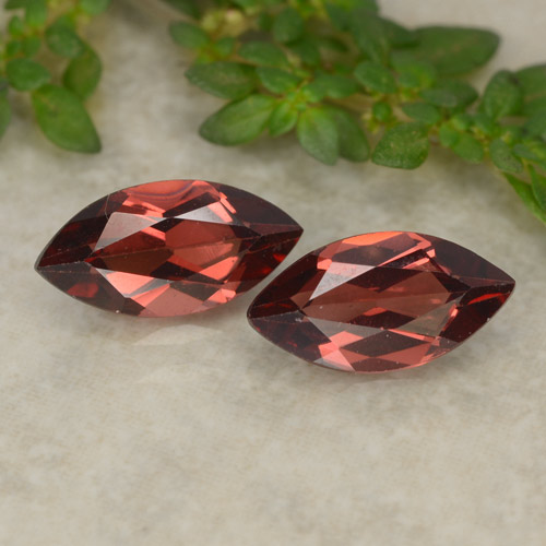 Red Pyrope Garnet Gem - 1.2ct Marquise Facet (ID: 479613)
