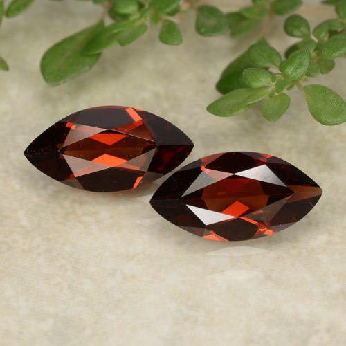 Red Pyrope Garnet Gem - 1.2ct Marquise Facet (ID: 479617)