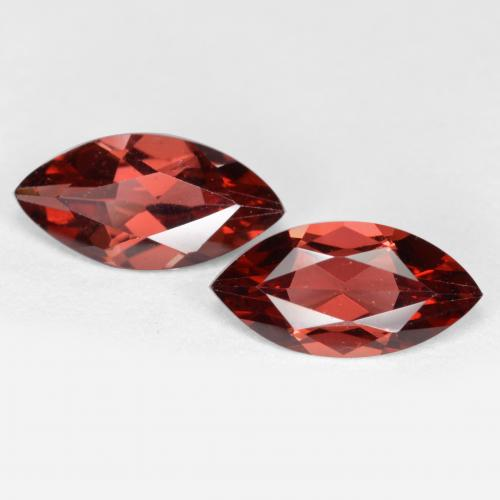 Red Pyrope Garnet Gem - 1.2ct Marquise Facet (ID: 479619)