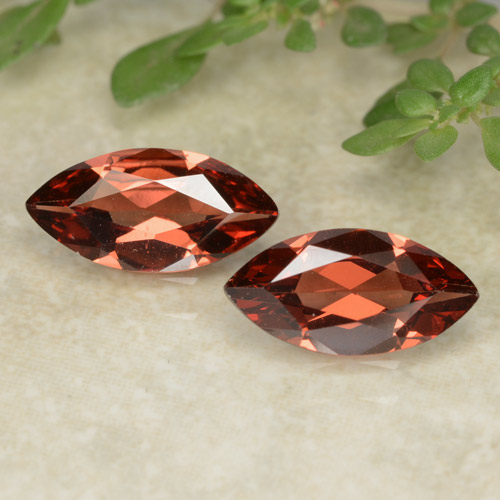Deep Berry Red Pyrope Garnet Gem - 1ct Marquise Facet (ID: 479621)