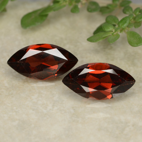 Red Pyrope Garnet Gem - 1.2ct Marquise Facet (ID: 479622)