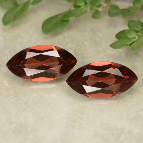 Red Pyrope Garnet Gem - 1.2ct Marquise Facet (ID: 479624)