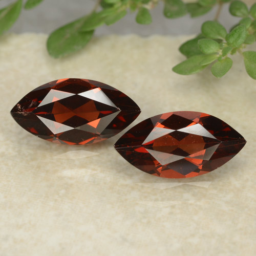 Deep Red Pyrope Garnet Gem - 1.3ct Marquise Facet (ID: 479626)