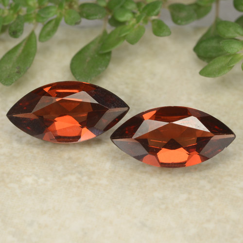 Red Pyrope Garnet Gem - 0.9ct Marquise Facet (ID: 479627)