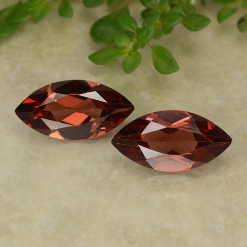 Red Pyrope Garnet Gem - 1.1ct Marquise Facet (ID: 479630)