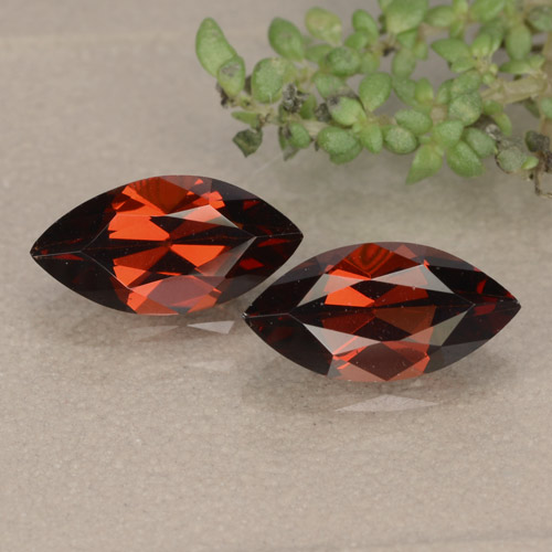 Red Pyrope Garnet Gem - 1.3ct Marquise Facet (ID: 479653)