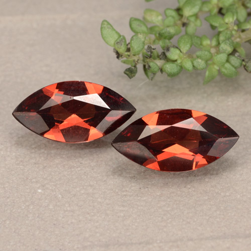 Red Pyrope Garnet Gem - 0.9ct Marquise Facet (ID: 479658)