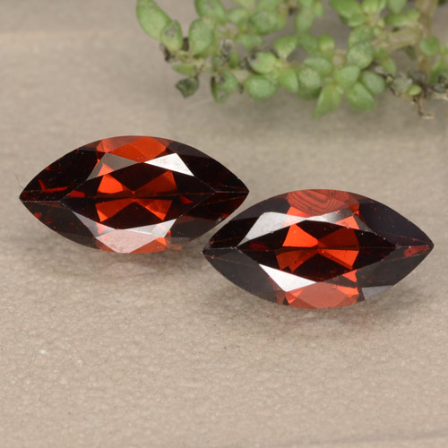 Red Pyrope Garnet Gem - 1.4ct Marquise Facet (ID: 479662)