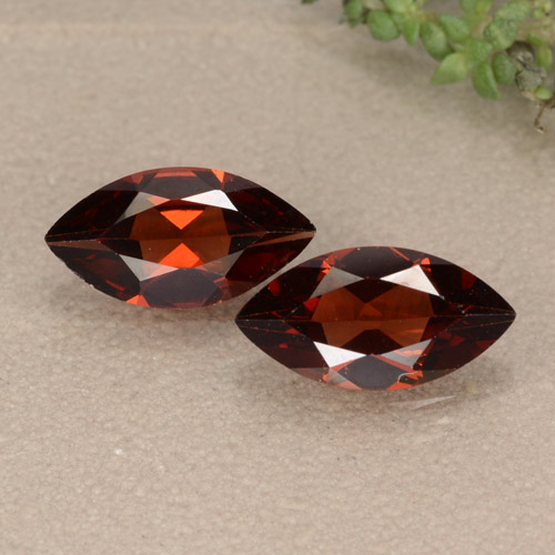 Sangria Red Pyrope Garnet Gem - 1.2ct Marquise Facet (ID: 479664)