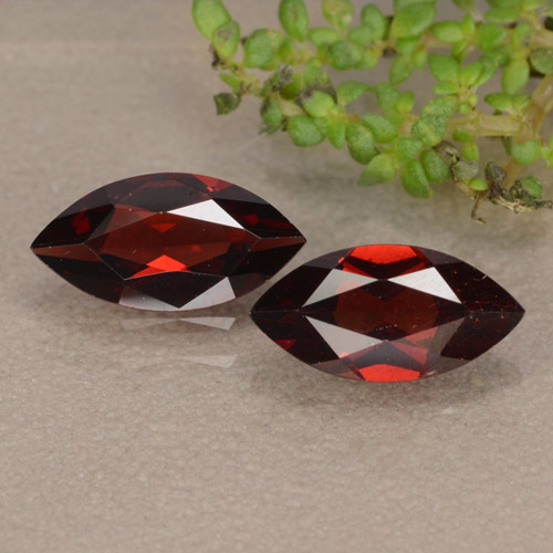 Red Pyrope Garnet Gem - 1.1ct Marquise Facet (ID: 479666)