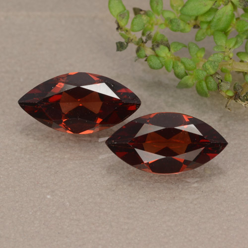 Red Pyrope Garnet Gem - 1ct Marquise Facet (ID: 479670)