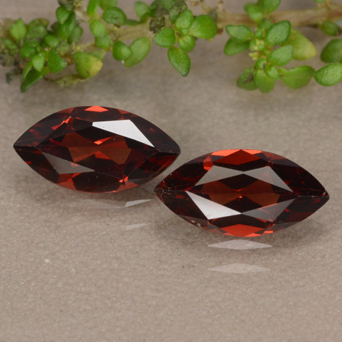 Red Pyrope Garnet Gem - 1.1ct Marquise Facet (ID: 479672)