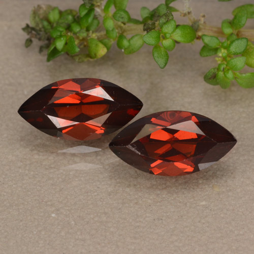Deep Red Pyrope Garnet Gem - 1.3ct Marquise Facet (ID: 479673)