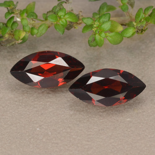 Dark Red Pyrope Garnet Gem - 1.1ct Marquise Facet (ID: 479674)
