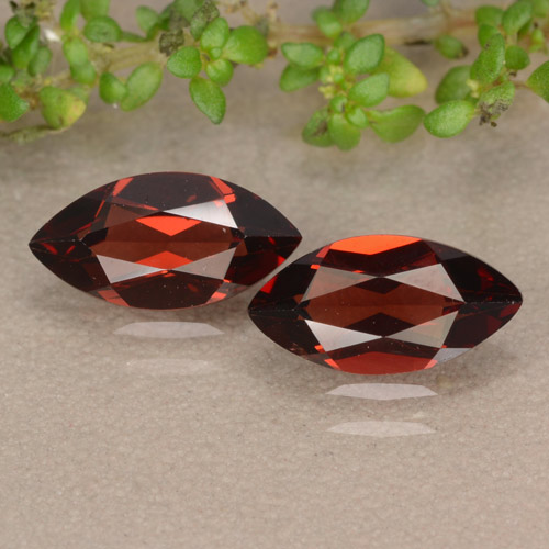 Red Pyrope Garnet Gem - 1.3ct Marquise Facet (ID: 479675)