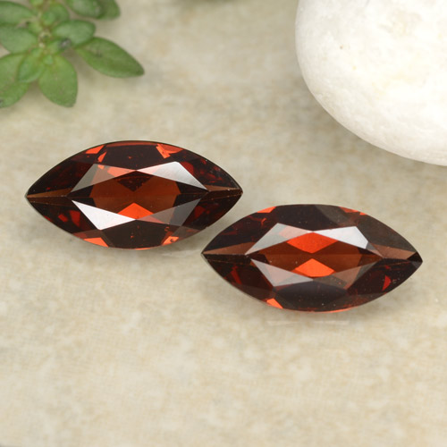 Deep Red Pyrope Garnet Gem - 1ct Marquise Facet (ID: 479682)