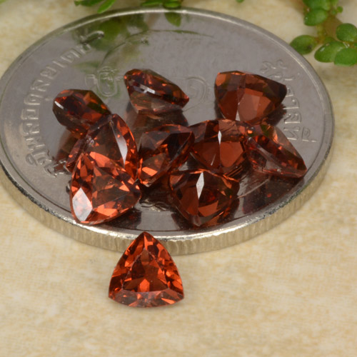 0.3ct Facette trillion Scarlet Red Grenat Pyrope gemme (ID: 479744)