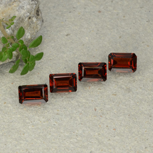 0.7ct Octagon Step Cut Deep Red Pyrope Garnet Gem (ID: 480688)