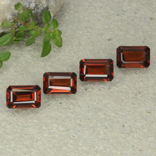 0.7ct Octagon Step Cut Deep Red Pyrope Garnet Gem (ID: 480697)