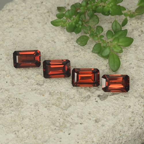 0.6ct Octagon Step Cut Medium Red Pyrope Garnet Gem (ID: 480711)