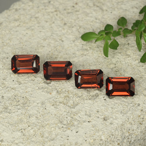 0.6ct Octagon Step Cut Deep Red Pyrope Garnet Gem (ID: 480712)