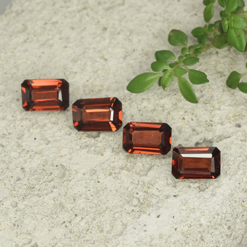 0.5ct Octagon Step Cut Medium Red Pyrope Garnet Gem (ID: 480716)