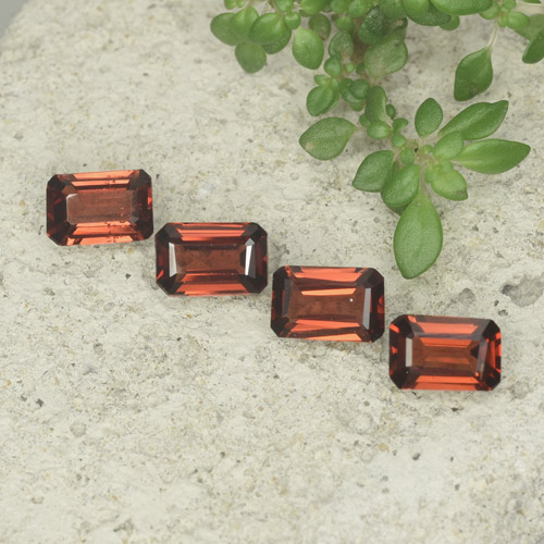 0.5ct Octagon Step Cut Sangria Red Pyrope Garnet Gem (ID: 480717)
