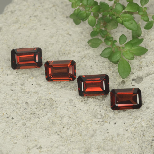 0.7ct Octagon Step Cut Dark Red Pyrope Garnet Gem (ID: 480719)