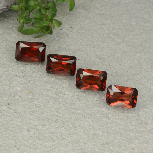 Red Pyrope Garnet Gem - 0.7ct Octagon / Scissor Cut (ID: 480748)