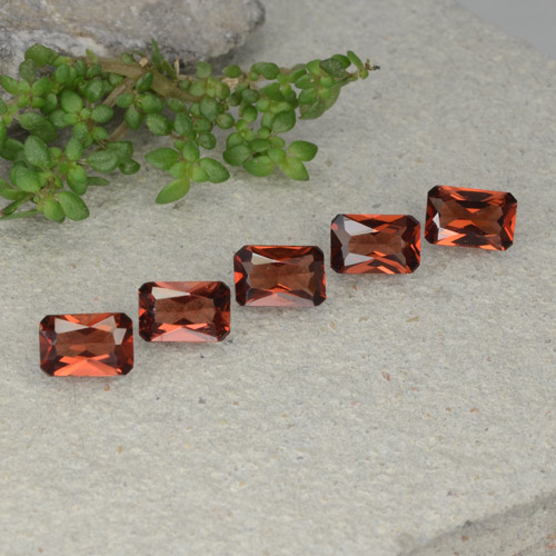 Red Pyrope Garnet Gem - 0.6ct Octagon / Scissor Cut (ID: 480756)