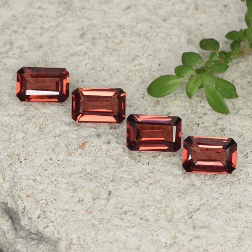 0.5ct Octagon Step Cut Medium Red Pyrope Garnet Gem (ID: 480770)