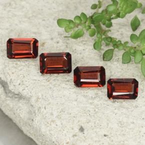 0.5ct Octagon Step Cut Deep Red Pyrope Garnet Gem (ID: 480772)